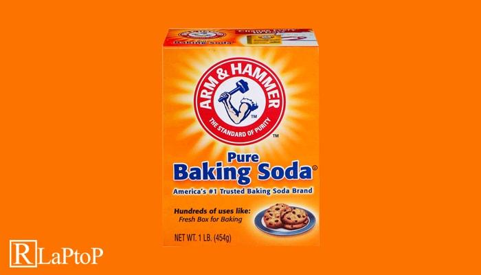 how to remove scratches from laptop hinge - baking soda