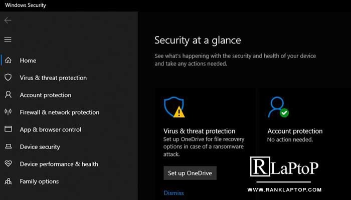 Scan your system for viruses, malware, and other threats