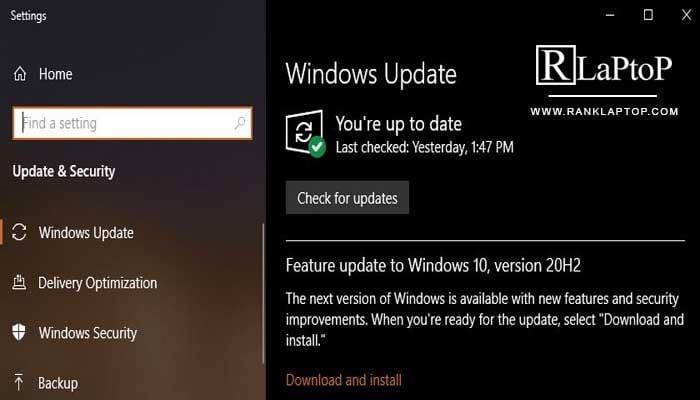 Update your Window