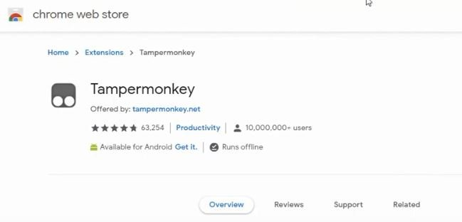 Download Temper Monkey Extension
