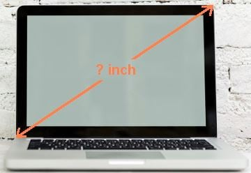 Measuring Laptop Screen
