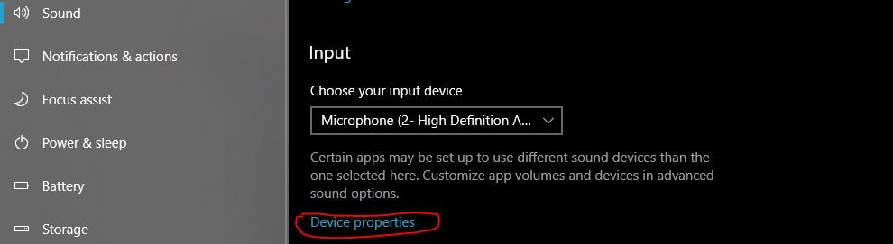 W5 Select advance setting from sound
