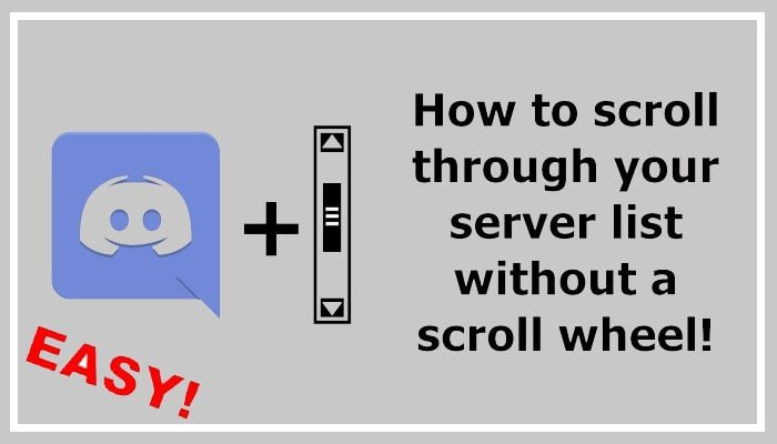 how to scroll through discord servers on laptop