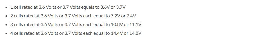 understand the voltage rating of battery cells